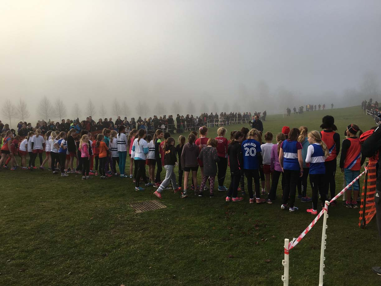 Holly Run 2016 U11 Girls start v2